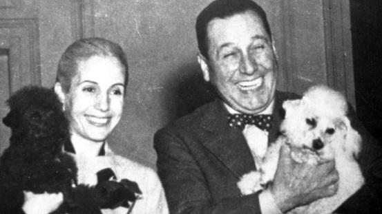 Eva Perón y Juan Perón